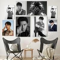 dimash kudaibergen music star art prints poster singer portrait black white photography wall stickers office cafe home decor