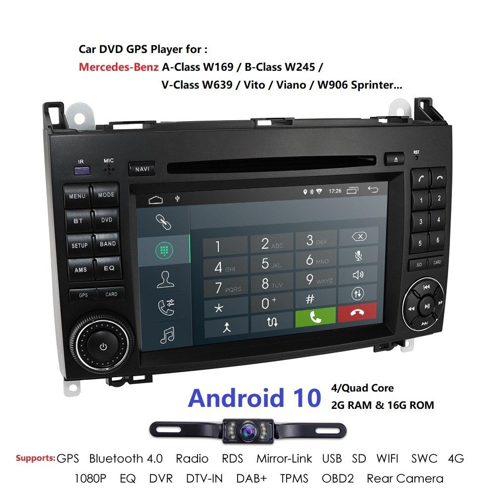 Android10.0 Car DVD Auto radio for Mercedes Benz B200 A B Class W169 W245 Viano Vito W639 Sprinter W906 WIFI GPS DVR Mirror link