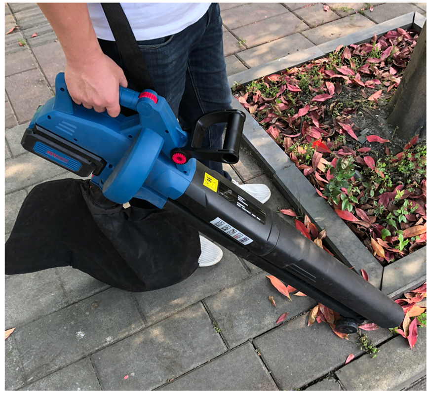 Rechargeable Blowing and Sucking machine 40V Lithium Electric household Leaf blower Crushing leaf Leaf cleaning suction blower enlarge