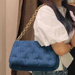 High Quality Women Denim Shoulder Bag Fashion Designer Ladies Purses Hand Bag Casual Female Chain Small Handbags Messenger Bags
