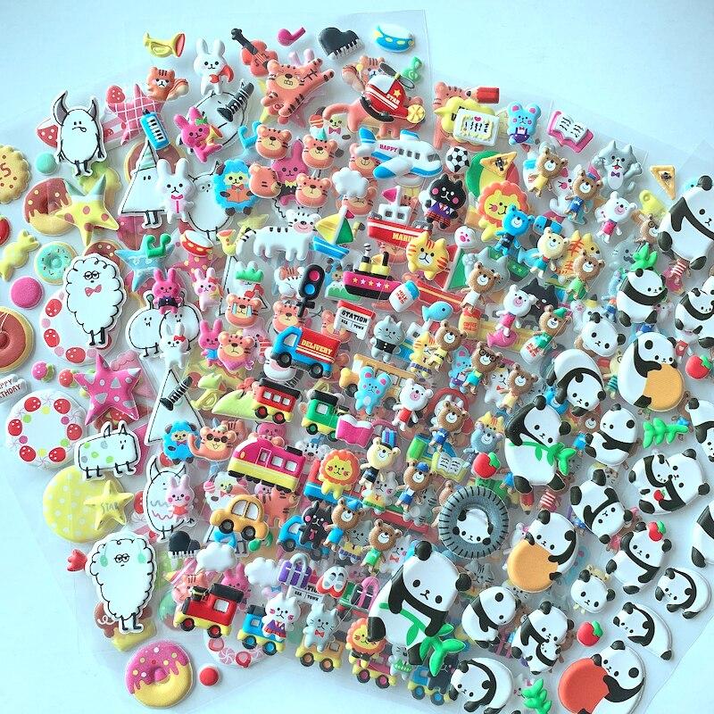 Pegatinas 3D de animales en 3D con dibujos de animales, bonitas frutas,...