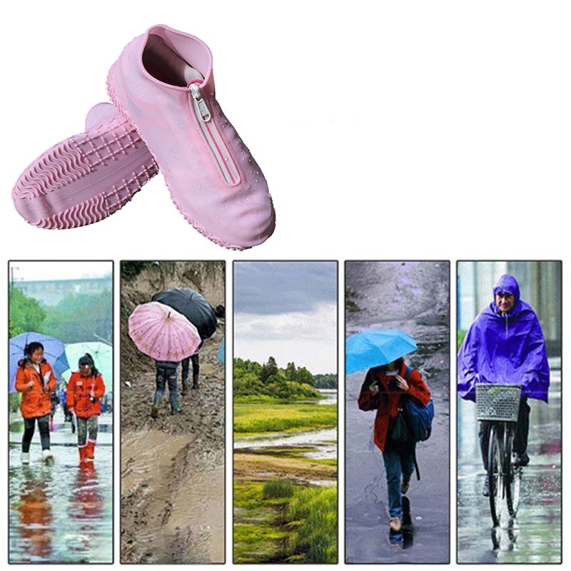 S-XL Reusable Silicone Shoe Cover Waterproof Rain Boot Cover Outdoor Thickened Anti-skid Wear-resistant Rubber Rain Boot Covers enlarge