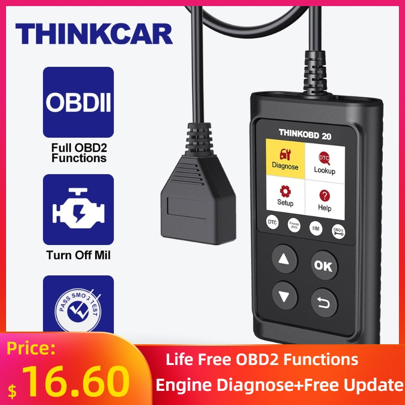THINKCAR THINKOBD 20 OBD 2 Scanner Professional Car Auto Diagnostic Tool Automotivo Code Reader Check Engine Light DTC Lookup thinkcar thinkscan 609 obd2 car scanner engine tcm abs srs full system auto code reader obd 2 scanner automotivo diagnostic tool