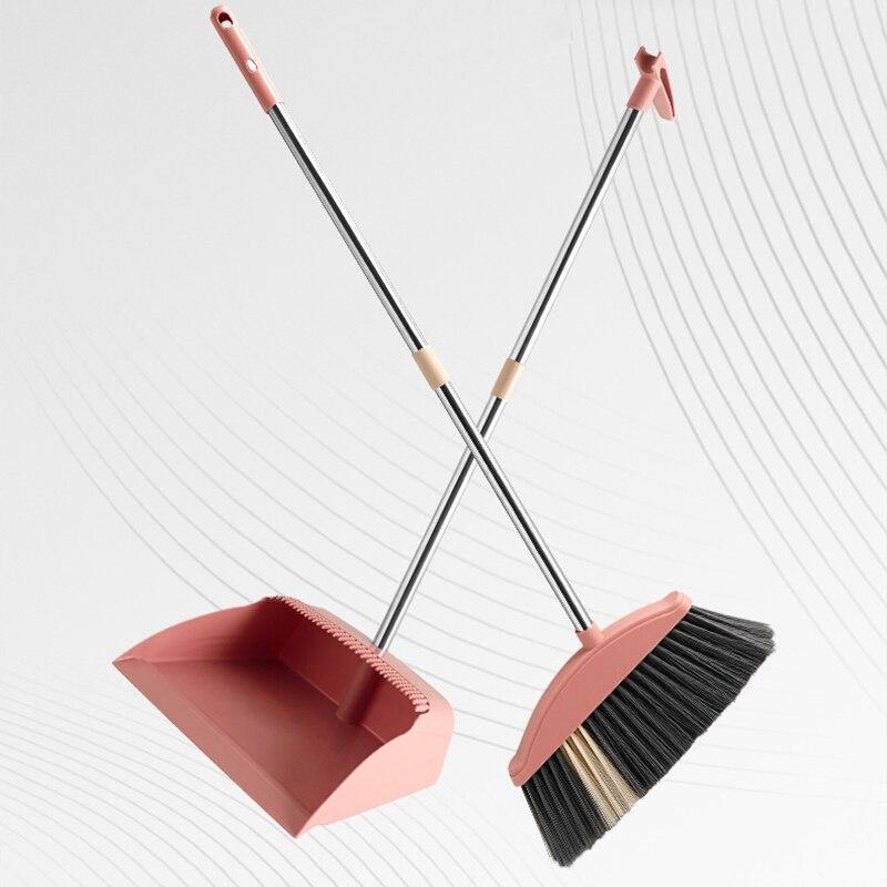 Hogar escoba recogedor Set combinado limpieza de suelo herramientas magia limpiando no-Palo de pelo barriendo a prueba de viento polvo Pan