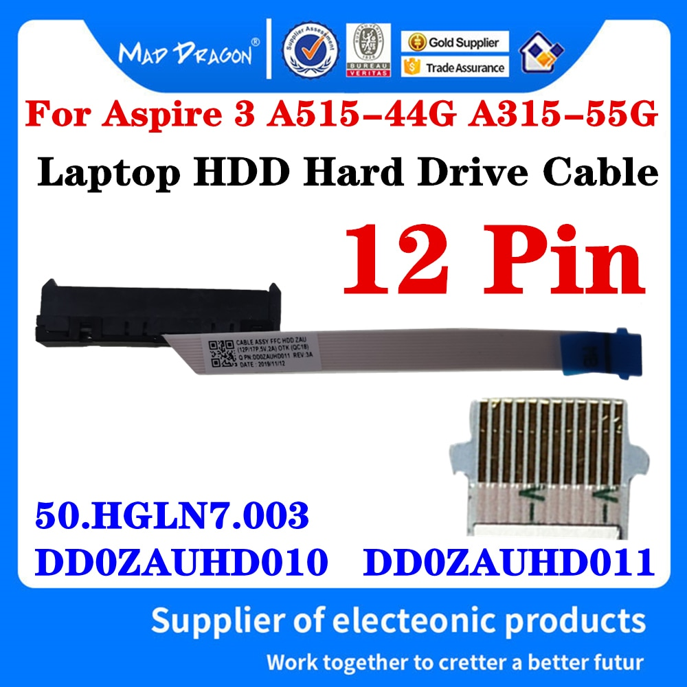 Nuevo DD0ZAUHD011 50 HGLN7.003 DD0ZAUHD010 para Acer Aspire 3 A315-55 A315-55G A515-44...