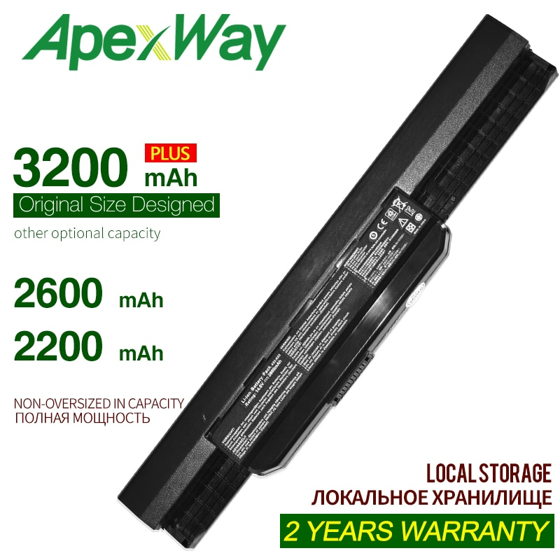 ApexWay a32-k53 Аккумулятор для ноутбука ASUS k53s k53s k53t x53s x54h k53 k53sd k53sv k53u k53e A31-K53 A41-K53 A42-K53 A53E A53F