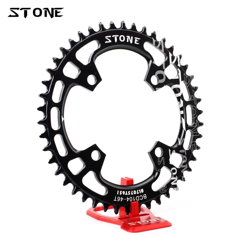 Círculo de pedra único chainring bcd 104mm 104 estreito dentes largos mtb bicicleta corrente anel 4 parafusos para m780 m670 xo x9 x7 roda