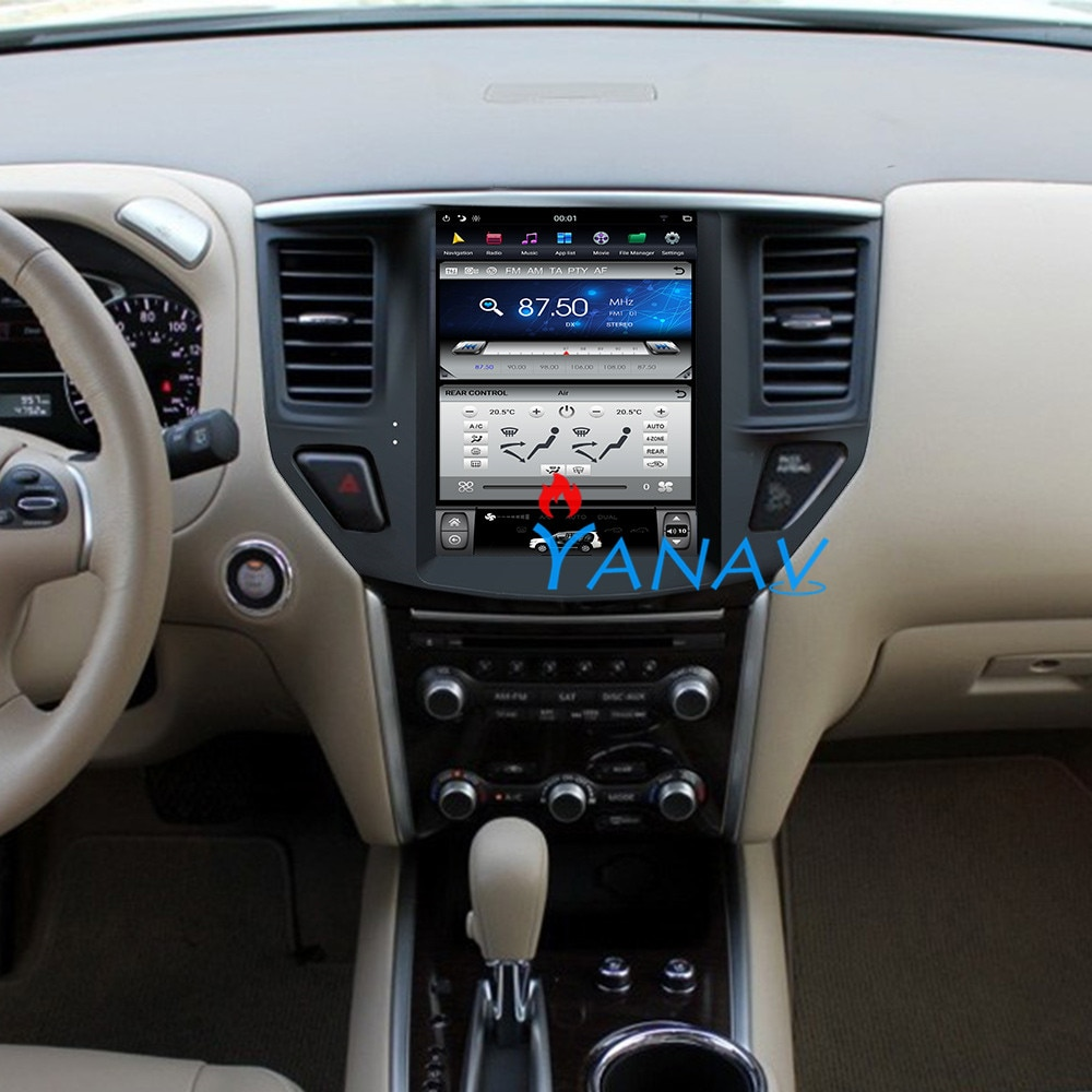 Sistema android, navegación GPS estéreo para coche, Nissan Pathfinder 2012-2018, radio Multimedia para coche, pantalla vertical, reproductor de vídeo y DVD