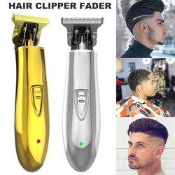 Venda quente recarregável sem fio trimmer men 0mm baldheaded hair clipper corte de cabelo para salão de beleza