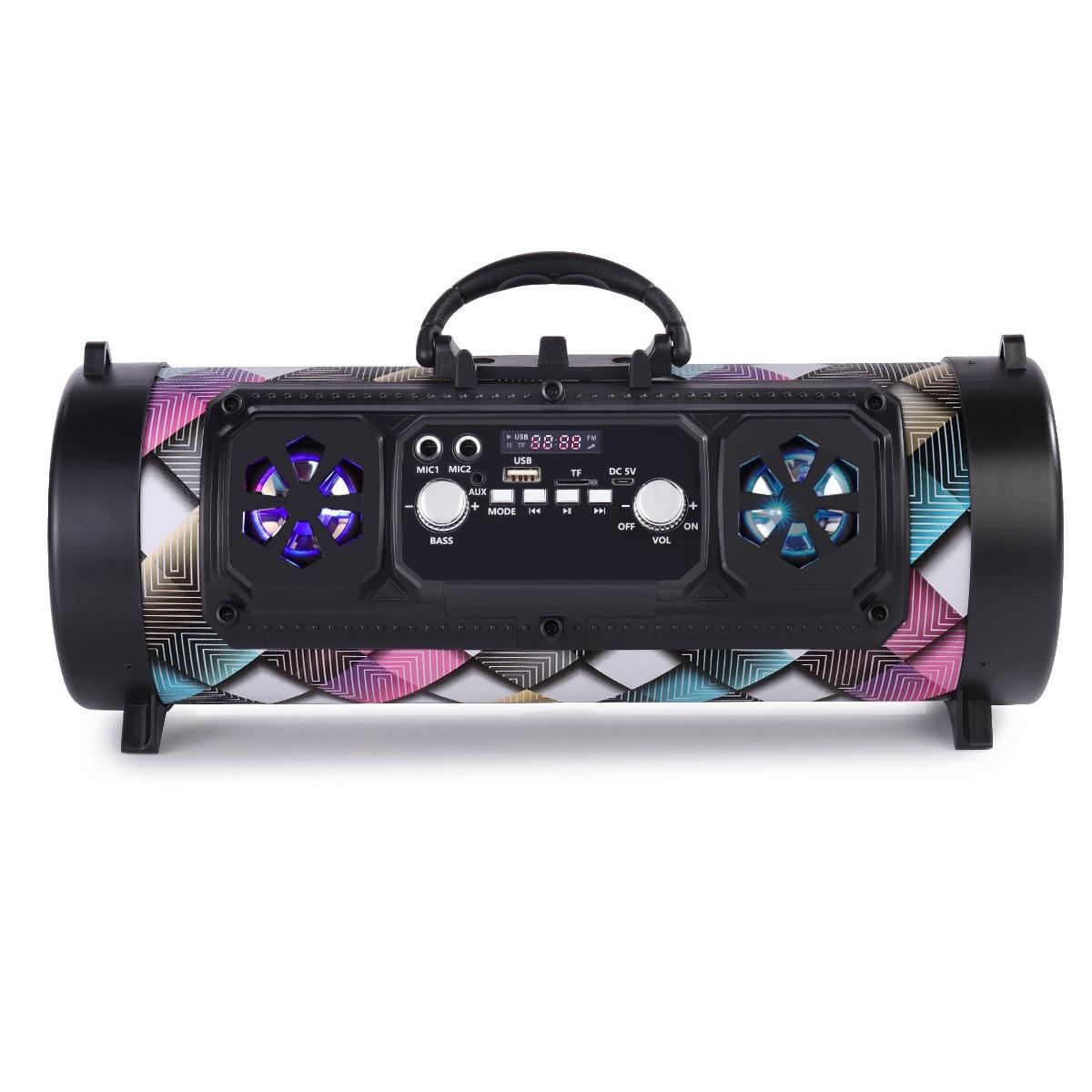 Portable Bluetooth-compatible Speaker Column Outdoor Wireless Speaker Music Stereo Subwoofer Speaker Move KTV 3D Sound FM Radio enlarge
