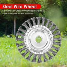 Tondeuse à gazon à roue métallique coupe gazon têtes, débroussailleuse de jardin, adaptée au nettoyage et au polissage des accessoires