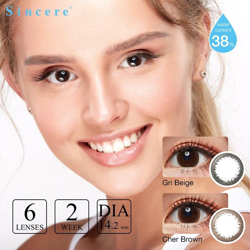 Lentes de contacto bisemanal de color 0-900 dioptrías ojos para lentes de corrección de la visión cuidado de la Salud 6 lentes/Uds belleza para ojos 2 semanas