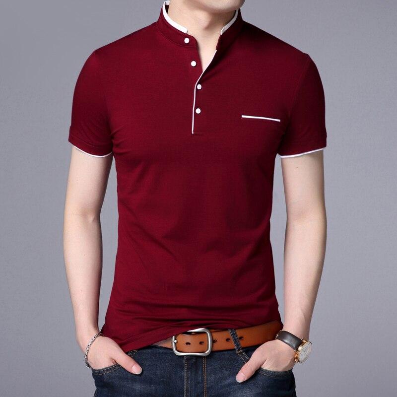Camisa de Polo de los hombres casuales de Color de camisa Polo...