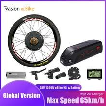52v12.8ah e vélo batterie avec 48v 1500w vélo électrique Kit de Conversion 52V batterie 48v roue électrique moteur Kit eBike moteur roue