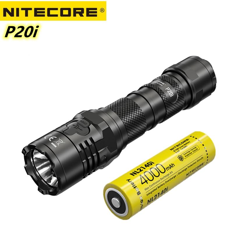 nitecore original p20i lanterna tatica usb recarregavel super brilhante 1800lumens