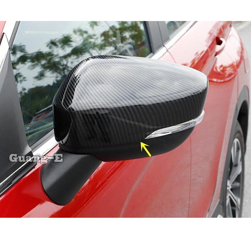 Para Mitsubishi Eclipse Cross 2017 2018 2019 2020 Car Styling Back retrovisor espejo retrovisor lateral de vidrio cubierta molduras de Marcos 2 uds