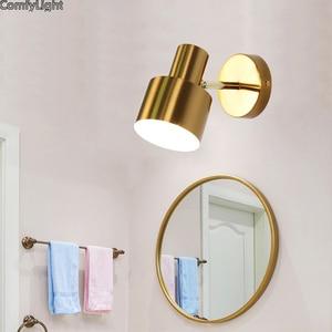 modern Golden Copper wall lamp Bedroom bedside  lights kitchen Sconce foyer living room loft Home atelier Lighting fixtures LED