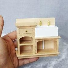 M02-X052 crianças do presente do bebê de Brinquedo 112 mini Casa De Bonecas Móveis Em Miniatura sentadoria Log cor lavatório 1pcs