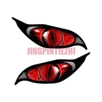 zombie series yellow red light blue evil eye decal sticker 2pcspair eyes car stickers vinyl motorcycle decal