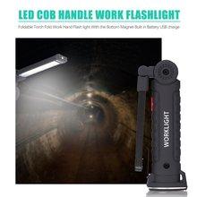 2020 Mini stylo multifonction COB LED travail lumière Inspection réparation torche lampe de poche avec pince de Base magnétique pour atelier de vélo