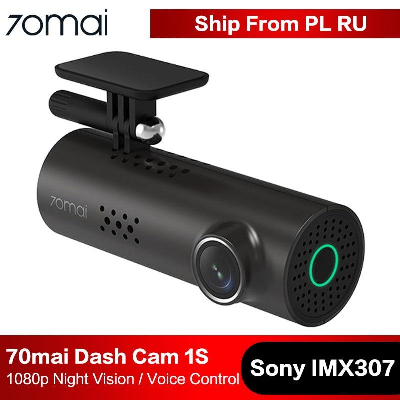 70mai cámara de salpicadero 1S coche DVR Cámara Wifi APP y Control de voz en Inglés 1080P HD Visión Nocturna g-sensor 70 Mai Dashcam Video grabadora