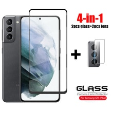 For Glass Samsung Galaxy S21 Plus Tempered Glass Full Cover Glass For Samsung Galaxy S21 Plus 5G HD