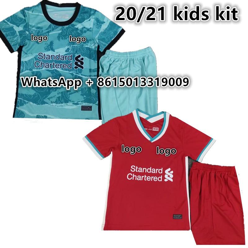 Nuevo 20 21 niños kit de LiverpoolES FIRMINO MANE VIRGIL HENDERSON ROBERTSON MILNER KEITA 2021 niños kit de fútbol jersey
