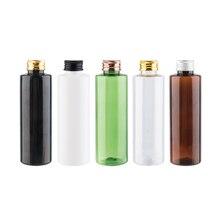 150ml couvercle à vis en aluminium bouteilles rechargeables Lotion conteneur 150cc shampooing Gel douche bouteille blanc vert brun bouteilles cosmétiques