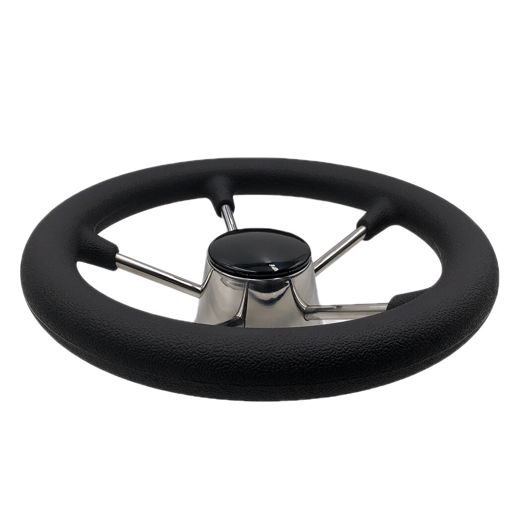 Universal 5-Spoke 11'' Boat Steering Wheel 3/4'' Tapered Shaft Non-directional Steering Wheel For Yacht Boat Accessorie Marine enlarge