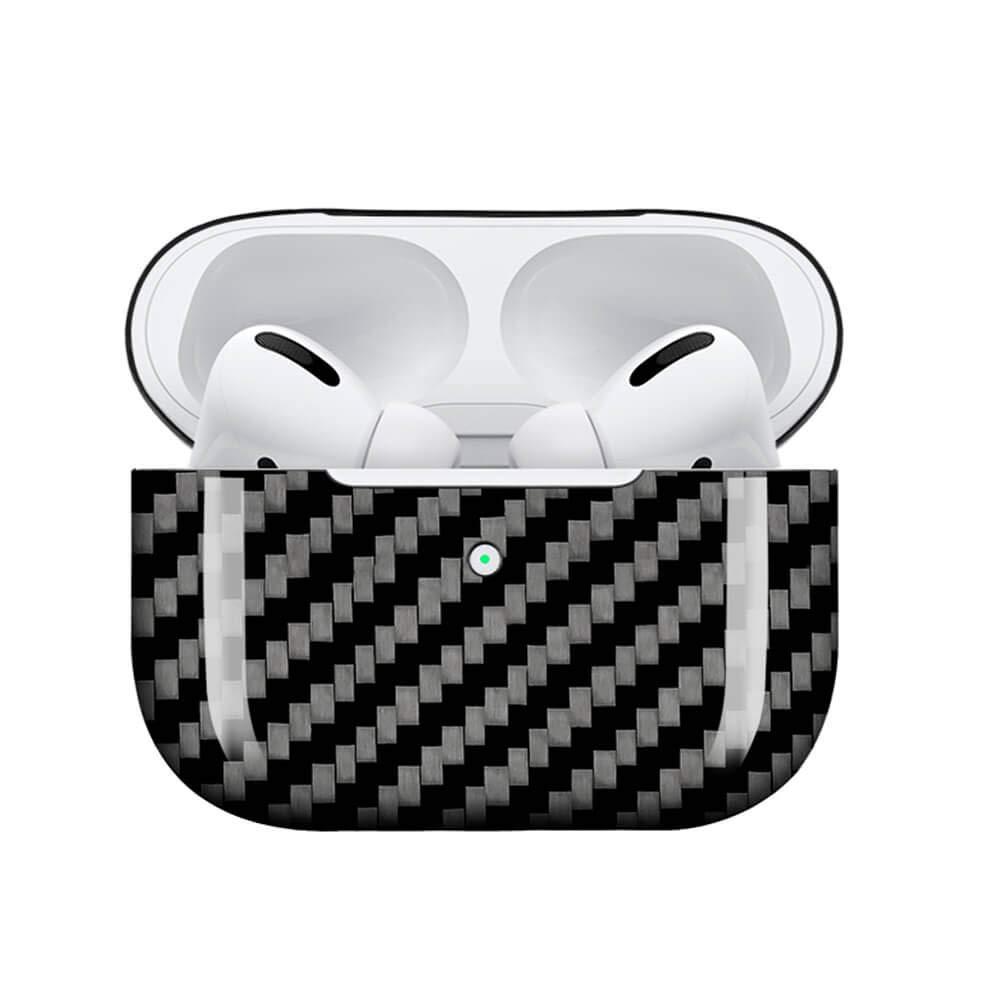 Funda de fibra de carbono Real, accesorios para auriculares, conjunto Compatible para Airpods Pro ultraligero, resistente, a prueba de golpes, funda protectora portátil