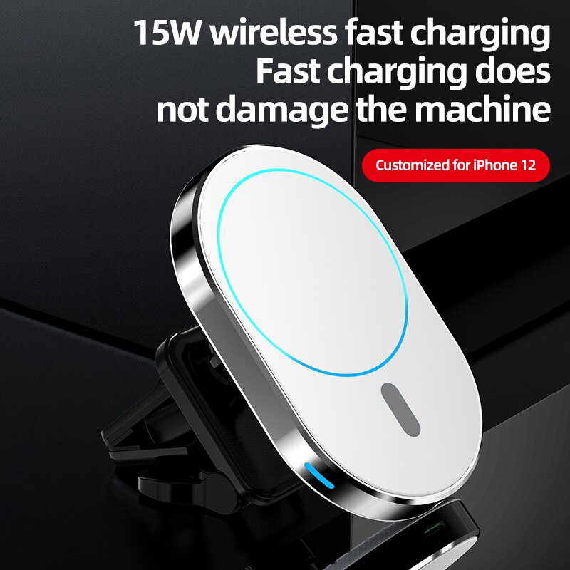 15W Magnetic Wireless Charger Car Magnetic Pad Houlder Only for iPhone 12 / 12 Pro / 12 Pro Max / 12