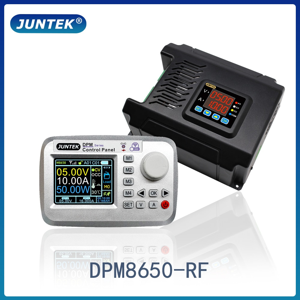 Juntek DPM8650-RF 60v 50a controle remoto voltímetro dc-dc fonte de alimentação regulador de tensão conversor de corrente constante módulo buck