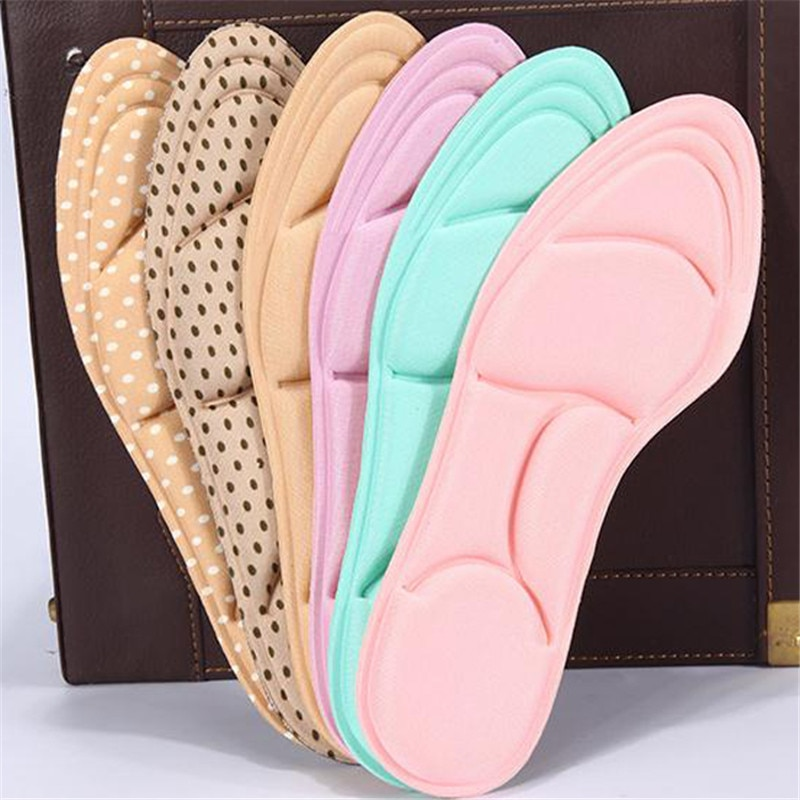 1Pair1 Pair Insoles Breathable Anti-slip Insole for feet Pad Inserts Heel Post Back for Women High Heel Shoe