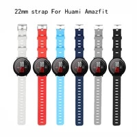 smart accessories for amazfit stratos 2s strap 22mm band for xiaomi watch amazfit pace pure color replacement band 20mm 22mm