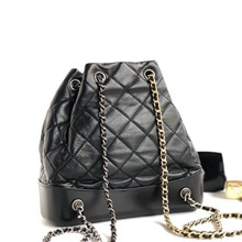 luxury famous designer woman chain backpack bag import genuine lambskin leather lady bucket purse