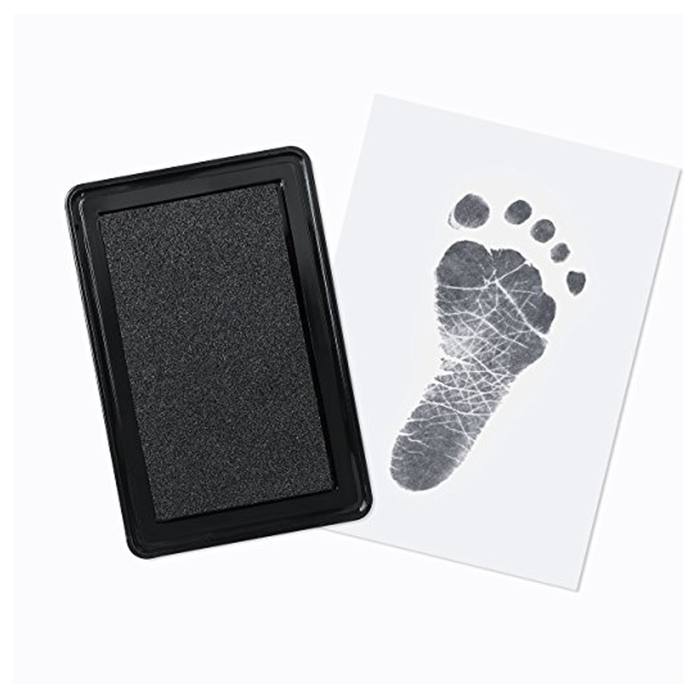 baby handprint footprint frame newborn footprint kit footprint child special gift for births and baptisms safe clean non toxic Baby Hand Foot Ink Hand Foot Print Handprint Oil Souvenir Newborn Hundred Days Gift Safe Ink Pad Non-Toxic Baby Footprint Kit