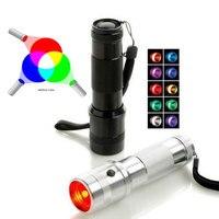 SecurityIng разноцветный фонарик 10 в 1 светодиодный цветной светильник радужного цвета меняющий цвет RGB светодиодный фонарь для ежедневного осве...