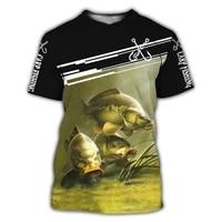 carp fishing 3d printing casual fashion t shirt mens short sleeve harajuku t shirt summer streetwear unisex 2021 new summer