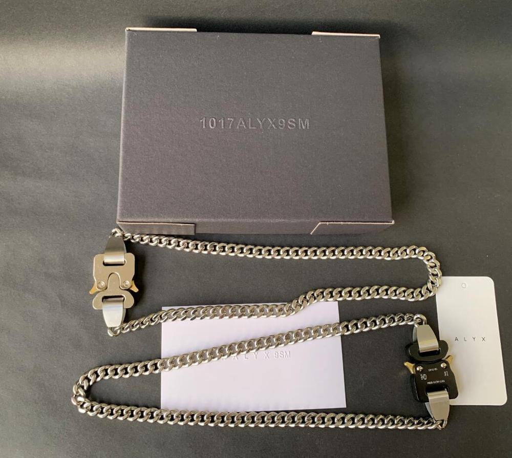 1017 ALYX 9SM Hero collar de cadena de Metal para hombres y mujeres Alyx Hero accesorios de perlas de titanio japonés ALYX 9SM collar 51cm