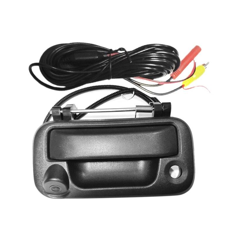 Manija trasera de respaldo de puerta trasera con cámara, cámara de visión trasera, cámara de marcha atrás para Ford F150/F250/F350/F450 para monitores universales