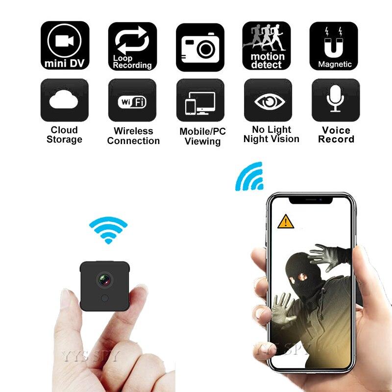 Mini cámara Wifi HD 1080P, videocámara inalámbrica magnética de seguridad con visión...