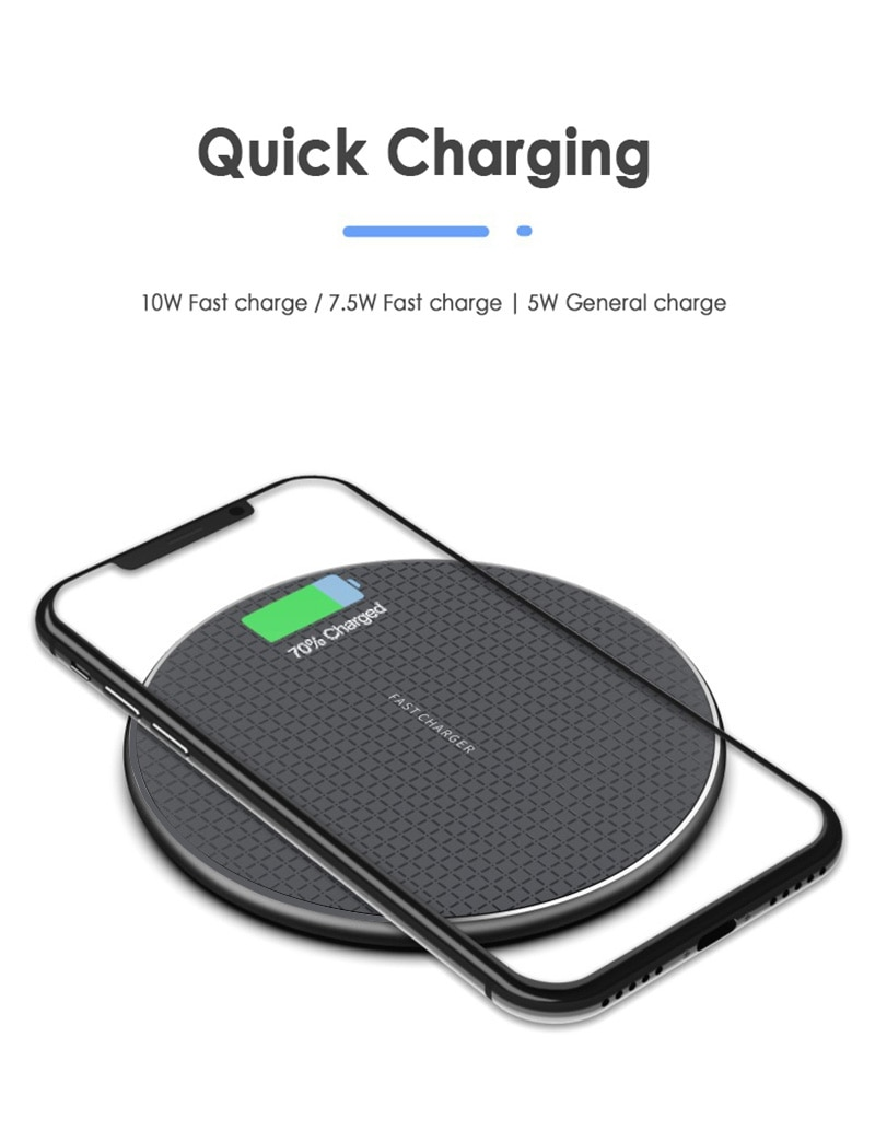Qi Wireless Charger 5W/10W Phone Charger Wireless Fast Charging Dock Charger For Iphone Samsung Xiao