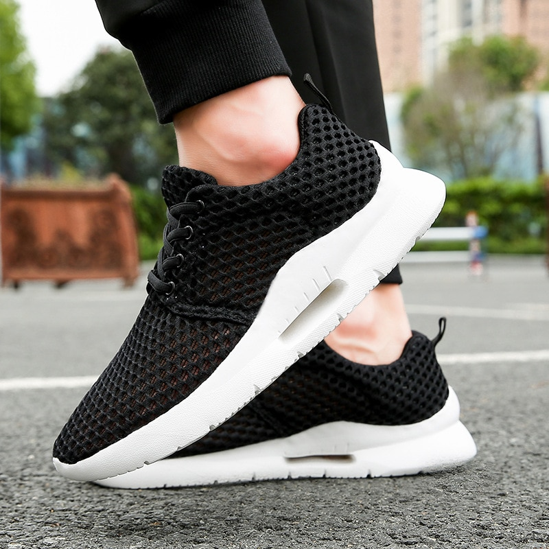 New 2020 Casual Shoes Men Lightweight Lace Up Men Shoes Breathable Mesh Adult Footwear Sport Sneakers Male Comfort Zapatillas
