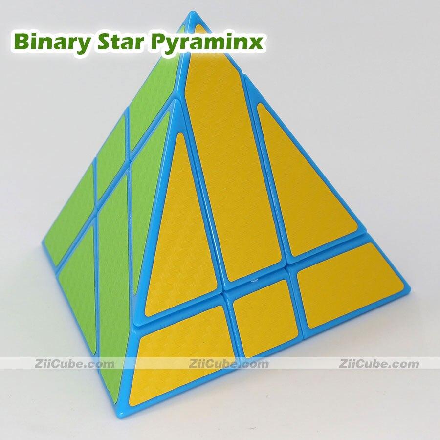 Cubos mágicos ziicube Estrela Binária Pirâmide do Enigma Adesivos כדורי מגנט 4 Faces Torção Jogo Brinquedos Educativos Para Crianças ningmei cubo