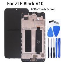 Высококачественный ЖК дисплей для ZTE Blade V10 V 10 с рамкой, сенсорный экран, цифровой преобразователь в сборе для ZTE Blade V10, комплект для ремонта телефона