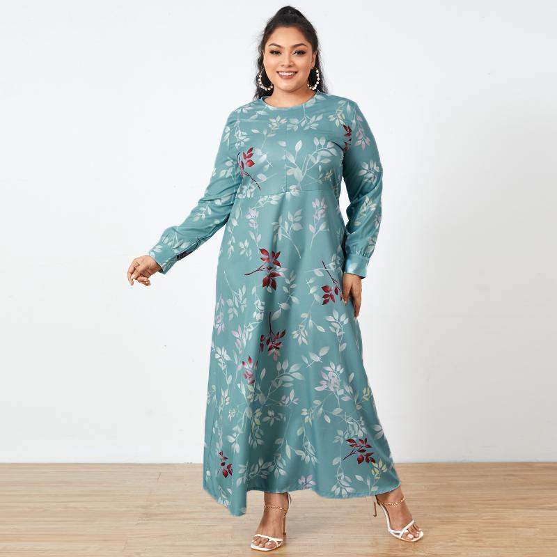 ZANZEA Muslim Dresses Women Long Sleeve Dubai Abaya Turkey Hijab Dress Floral Printed Maix Long Dress Islamic Clothing Plus Size cross border women s clothing vintage printed palace style large swing dress dubai long dress clothes for muslim women
