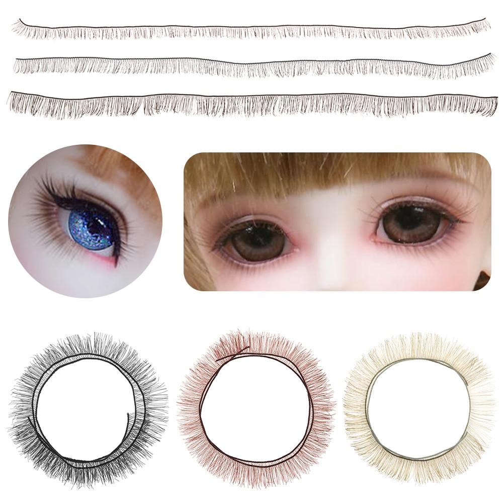 SIRENXI 5Pcs 20cm Kids DIY Doll False Eyelashes Black Brown Tawny Eye Lash Dolls Accessories Doll Pa