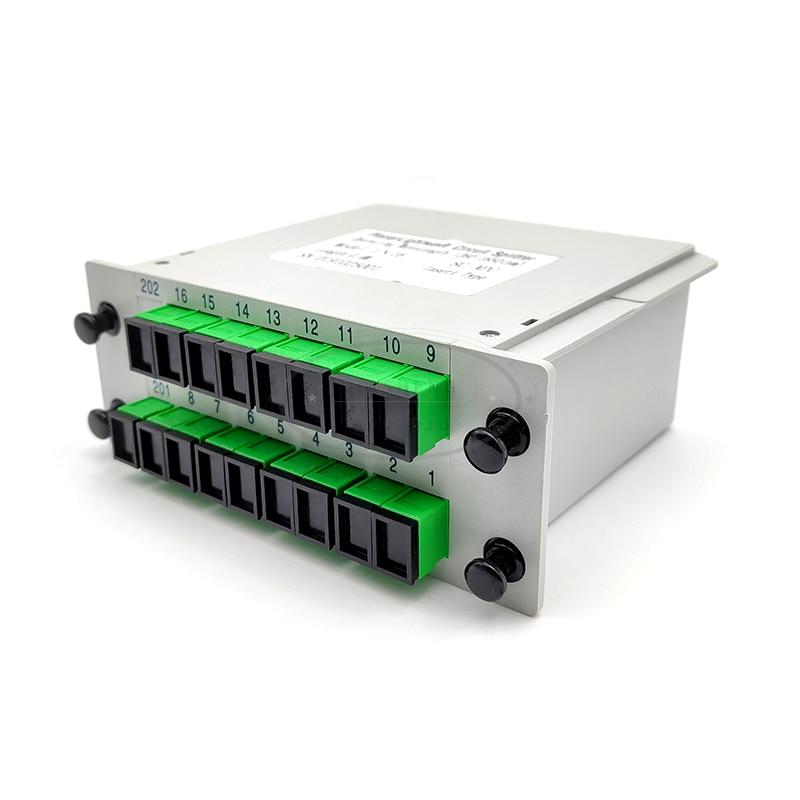 1x16 Box Cassette Card Inserting SC/APC PLC splitter Module 116 Fiber Optical PLC Splitter
