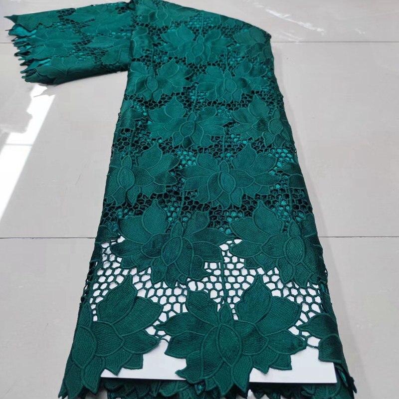 قماش دانتيل أفريقي من teal Guipure ، حبل مطرز ، قماش دانتيل نيجيري عالي الجودة TS9752