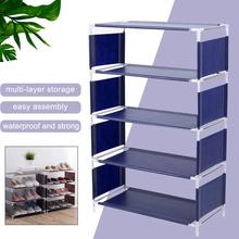 Zapatero no tejido de 4/5 capas, organizador de almacenamiento a prueba de polvo, cubierta de armario, armario de ropa de casa, estante de zapatos de varios pisos